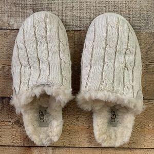 UGG Sweater Knit Scuffette slippers cream Size 6